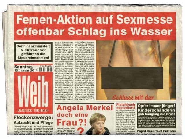 Femen auf Sexmesse
